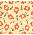 Cartoon seamless pattern with animal footprints vector image vector image