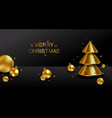 christmas and new year background xmas dark vector image vector image