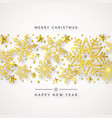 christmas background with shining golden vector image vector image