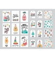 Christmas card and gift tag patterns set vector image vector image