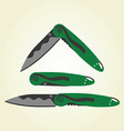 clipart - folding pocket knives vector image