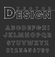 design alphabet font template letters and numbers vector image vector image
