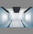 exhibition empty 3d room with bright lighting