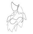 female figure continuous line graphic vector image vector image