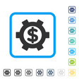 financial settings framed icon vector image vector image