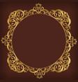 frame decorative circle gold ornament border vector image vector image