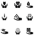give and protect icon set vector image