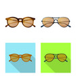 glasses and sunglasses icon vector image