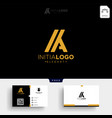 gold luxury initial k or ka logo template and vector image vector image