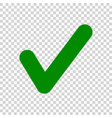 green check mark icon isolated on transparent vector image vector image