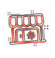 grocery store icon in comic style shop building vector image