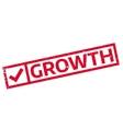 Growth rubber stamp vector image vector image