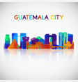 guatemala city skyline silhouette in colorful vector image vector image