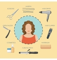 Hairdressing Salon Decorative Icons vector image vector image