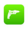 hand drill icon digital green vector image vector image