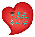 Happy Fathers Day typography in heart shape vector image