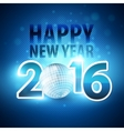 Happy New Year 2016 colorful disco lights vector image vector image