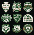 Hunting and Outdoor themed badges and emblem colle vector image vector image