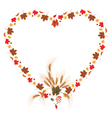 leaves of maple and ears as heart vector image vector image