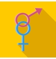 Male and female symbols icon flat style vector image vector image