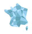 map france low poly vector image vector image