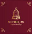 merry christmas abstract classy label logo vector image vector image