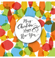 minimalist flat christmas card with decorations vector image vector image