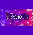 modern new year poster and realistic vector image