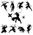 Ninja Shadow siluate silhouette vector image