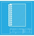 Notebook simple sign White section of icon on vector image vector image
