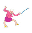 nursing home party grandmother dance grandma vector image vector image