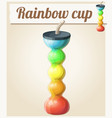 rainbow ice cup frozen drink unusual shape vector image vector image