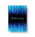 rectangular pattern with neon light vector image vector image