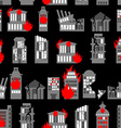 Ruined city seamless pattern Ruins of buildings vector image vector image