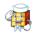 sailor rubik cube character cartoon vector image vector image