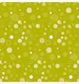 Seamless Abstract Circle Green Pattern vector image