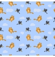 Seamless pattern with cat mouse and crow vector image vector image