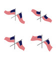 set american flag design template icon symbol vector image vector image