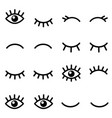 set cartoon eyes icons isolated on white vector image