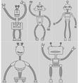 Set cute robots vector image vector image