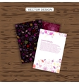 Set of four valentines day business cards on a vector image vector image
