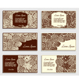 Set of invitation cards with different tree leaves vector image vector image