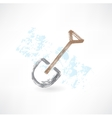 shovel grunge icon vector image vector image