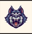 siberian husky angry mascot vector image vector image
