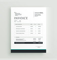 simple invoice template design for your business vector image vector image