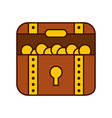 treasure chest game icon vector image vector image