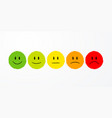 user experience feedback different mood emoticons vector image vector image