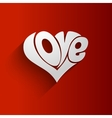 Valentines Card with lettering vector image vector image