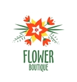 vector logo for a flower shop bright bouquet vector image