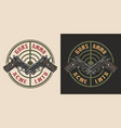 vintage military round logotype vector image vector image